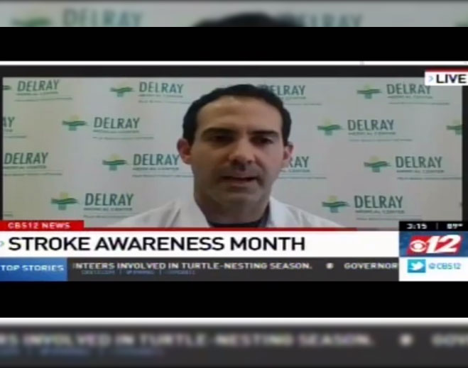 dr-dennys-reyes-is-interviewed-on-cbs-12-news-for-stroke-awareness-month